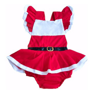 Vestido Body Natal Baby Mamãe Noel Bebês Vermelho Fotos