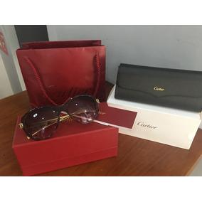 Lentes Gafas Cartier Panthere Vino & Oro 18k 100% Autentico