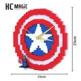 Reloj Capitan America Marvel Para Armar Diamond Blocks