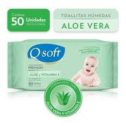Toallitas Húmedas Premium Q-soft Aloe Vera (16 Paquetes)