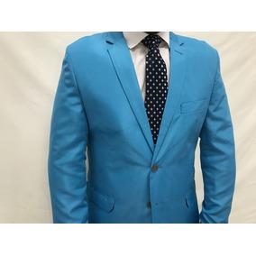Terno Slim Corte Italiano Azul Celeste Paletó+calça