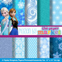 Kit Imprimible Pack Fondos Frozen Clipart