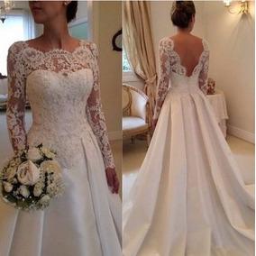 Vestido Noiva E Calda Renda Tomara Caia Casamento Importado