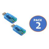 Pack 2 Tarjeta Adaptador Sonido Usb 3d Audio 5.1 Gocyexpress