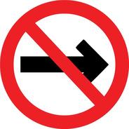 Placa Sinalização Sentido Proibido 45x45cm Redonda