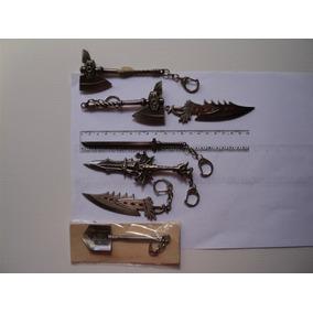 Lote Com 8 Chaveiros Modelo Espadas - Diversos