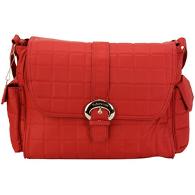 Bolso Maternal Bbuckle Bag Quilted Rhubarb - Red