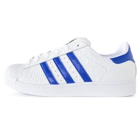 Zapatillas adidas Originals Superstar Blaco Y Azul Hombre