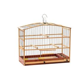 Gaiola Madeira Canário - Pássaros Pequeno Porte