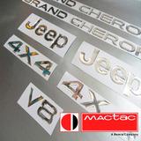 Calcomanias Grand Cherokee Kit Emblemas Flexibles 3d Resina