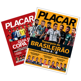 Lote 2x Placar = Guia Copa Do Mundo E Brasileirao 2018 Novo!