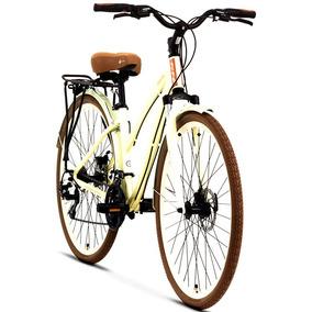 Bicicleta Tito Downtown Disc Feminina Híbrida 700c Creme