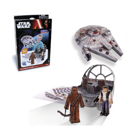Pack Nave Y Figuras Papel Armables Star Wars