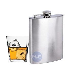Cantil Inox Porta Bebida 200ml P/ Whisky Garrafa De Bolso .