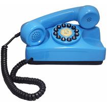 Telefone Antigo Retrô Vintage Tijolinho Azul Claro