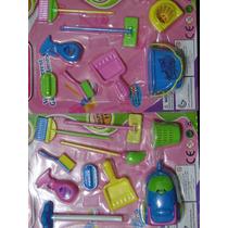 Para Boneca Barbie Susi Polly Itens De Limpeza Tamanho Certo