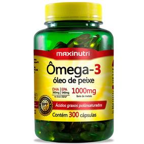 Omega 3 Óleo De Peixe 1000mg Maxinutri - 300 Cápsulas