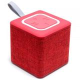 Parlante Portable Bluetooth Inalambrico Cubo S1016 (rojo)