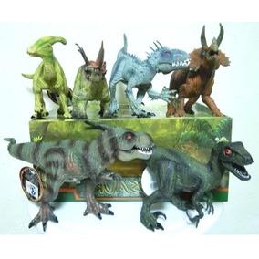 El333 Caja 6 Dinosaurios Sonido Mandibula Movil Indominu Rex