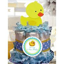 Ducky De Goma Del Pato Mini Pañal Cake - Hecho A Mano Por L