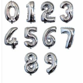 Mayoreo Globos Metalicos Numero 40 Pulgadas (10globos)