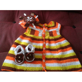 Vestidos De Niña Tejidos En Hilo Crochet