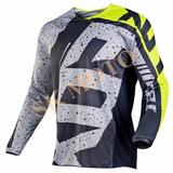 Camisa Fox Cinza Motocross Trilha Enduro Bike Bicicross Dh
