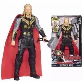 Boneco Marvel Avengers Thor Articulador Com Luz E Som 30 Cm