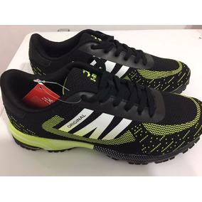 Zapatillas Running I-run Negro Con Verde - Ultimos Pares!!