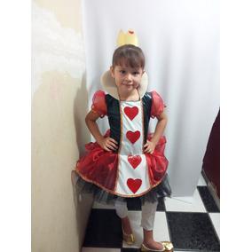 Disfraz Infantil Tipo Reina De Corazones, Envío Gratis