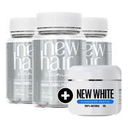 New Hair Masculino Vitamina P/ Cabelos Loja Oficial 3 Potes