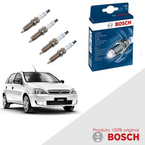 Kit Jogo Velas Orig Bosch Corsa 1.8 8v Flexpower Flex 03-09