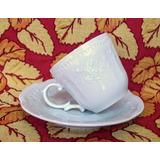 Taza De Cafe Porcelana Verbano Mozart Flores Relieve