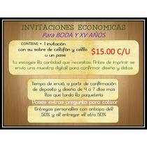 Invitaciones Impresas De Boda Y Xv Años, Economicas.