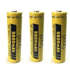 Kit 3 Baterias 18650 9800mah 3.7v Li-ion Recarregável