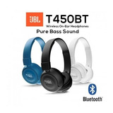 Auriculares Bluetooth Jbl T450bt Pure Bass En Caja T450