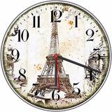 Relógio Parede Torre Eiffel Decorativo Sala Cozinha Quarto