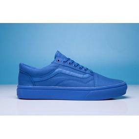 zapatillas vans azules hombre