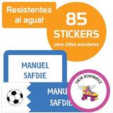 Etiquetas Escolares Personalizadas Utiles Stickers
