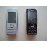 Carcaça Nokia X2 Preta Com Vermelha