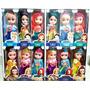 Kit 6 Bonecas Princesas Frozen, Cinderela, Ana, Elsa, Branca