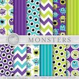 Kit Imprimible Pack Fondos Monsters University Clipart Cod 3