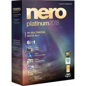 Nero Platinum 2018 Suite V19 Español Grabación Cd Dvd Bluray