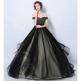 Vestido De Debutante Preto - 34 36 38 40 42 44 46 - Va00456