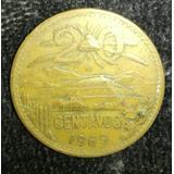 Moneda De 20 Centavos De 1969