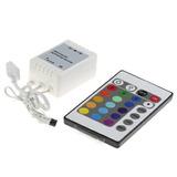 Controlador Para Rgb 24 Botones Infrarrojo Etco Iluminacion