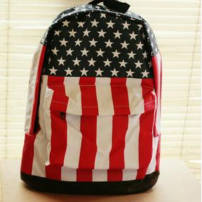 Mochila Escolar Impermeável Grande Bandeira Usa