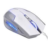 Mouse Teclado Cable Azzor Fabuloso X3 Usb 6 Botone Blanco