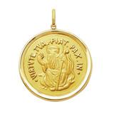 Leão Jóias Medalha São Bento Em Ouro 18k 13gr Grande