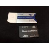 10 Cartões 4gb Sony Memory Stick Pro Duo + Adaptador Grátis